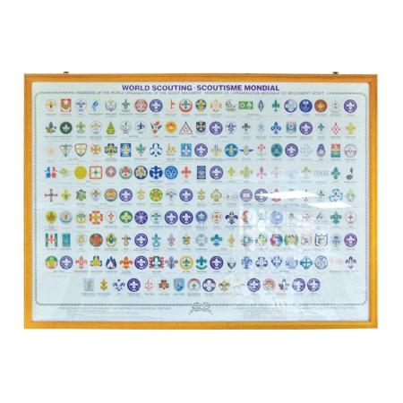 世界各國童軍徽圖表(加木框)