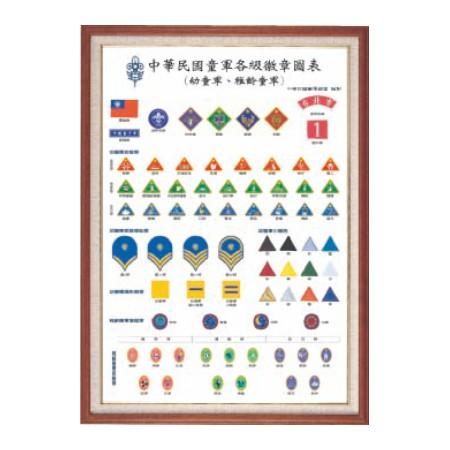 稚齡、幼童軍徽章圖表