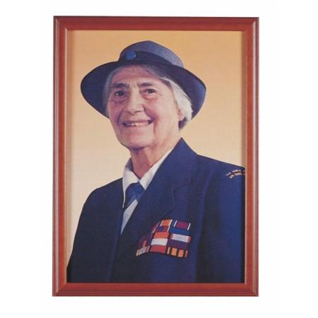 貝登堡夫人彩色照片(含框)