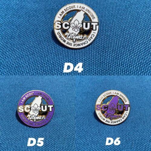Scout台灣徽章(全白,紫邊,白邊)