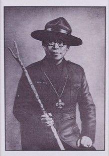 童軍創始人照片 - 嚴家麟照片(不含框)