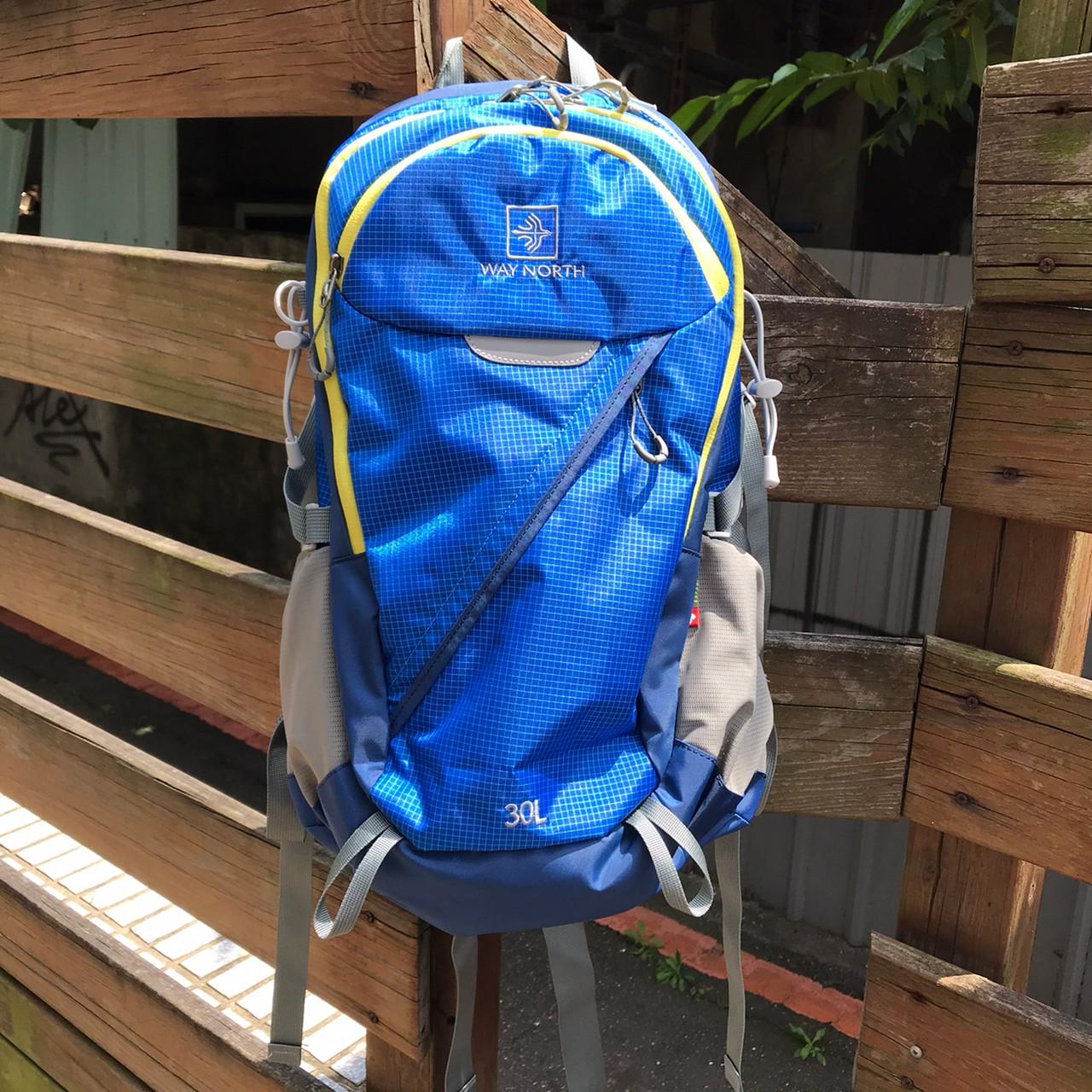 30升網架背包-藍色