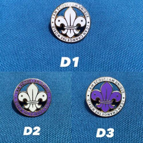 世界徽徽章(全白,紫邊,白邊)