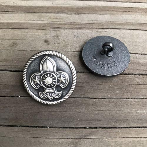 童軍徽西裝銅釦(古銅.大)