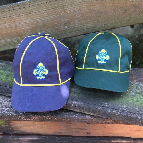 幼童軍帽-藍色/綠色