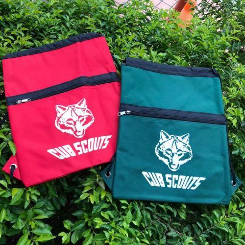 小狼頭徽輕便背包(紅/綠)