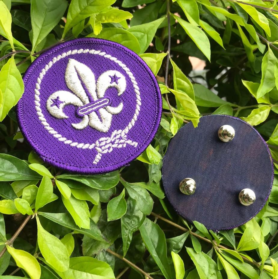 世界童軍徽胸章(銀線/凸繡)